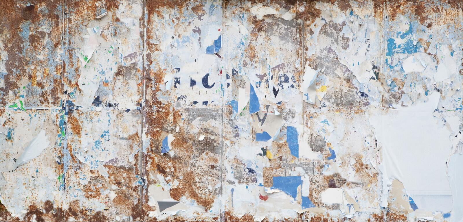 Rusty billboard stock photo image of advertisement grungy 96738716 rusty old billboard with torn paper all over it malvernweather Choice Image
