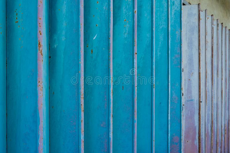 Rusty blue metal doors vintage style texture. Old texture background royalty free stock photography