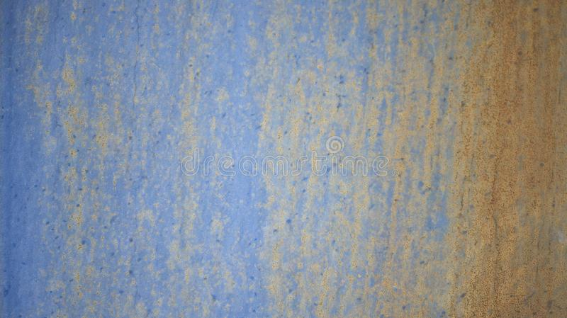 Rusty blue metal wall texture background. royalty free stock photography