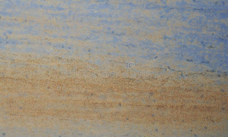 Rusty blue metal wall texture background stock images
