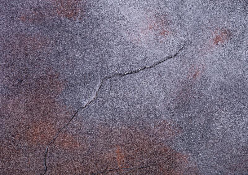 Rusty blue purple cement concrete stone texture with cracks stock photo