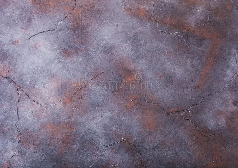 Rusty blue purple cement concrete stone texture with cracks stock image