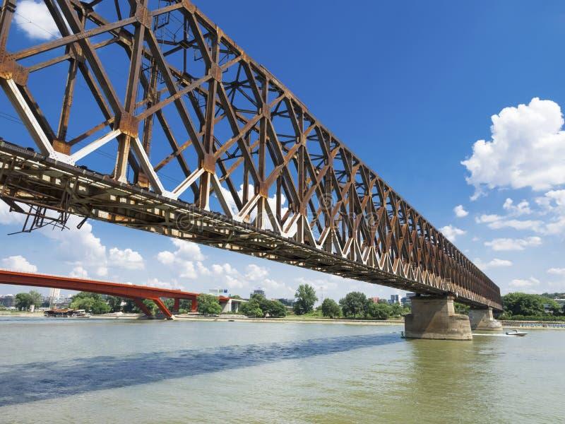 Rusty Bridge royalty-vrije stock afbeeldingen