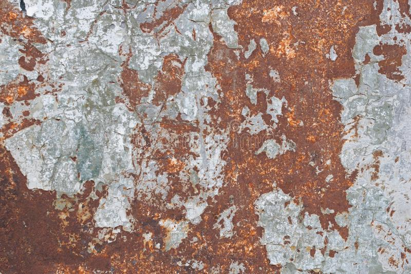 Rusty brown metal as background or wallpaper stock photos