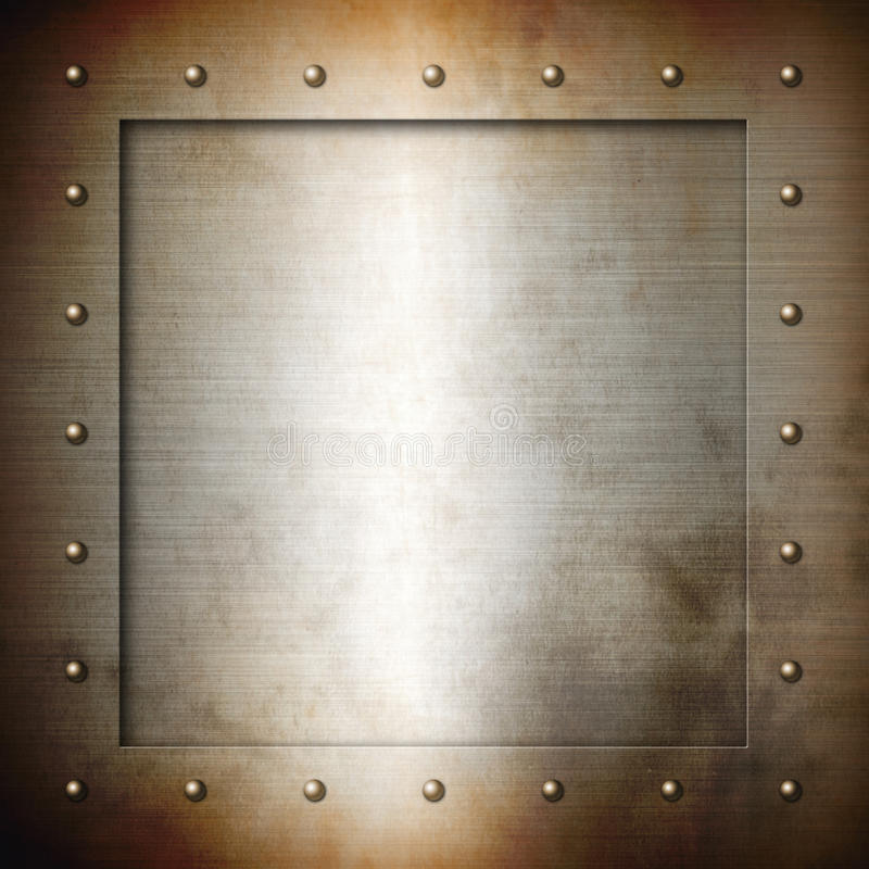 Rusty brushed Steel frame royalty free illustration