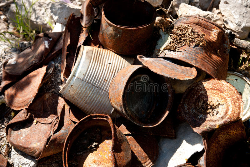 Download Rusty cans stock image. Image of heap, save, nature, metallic - 26821969