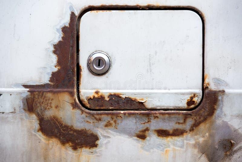 Rusty car cap. stock images