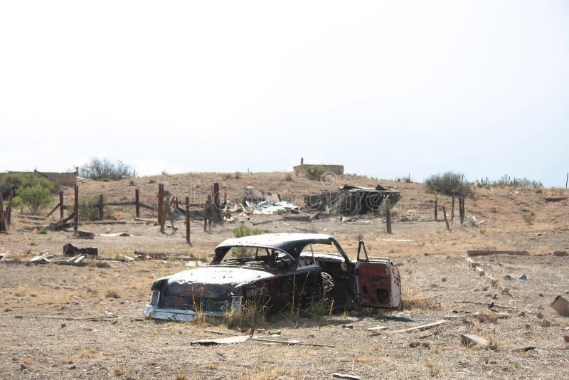 Rusty car wreck stock photos