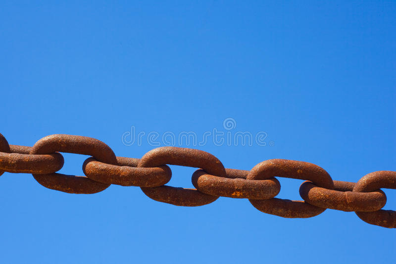 Download Rusty chain stock photo. Image of attached, backgrounds - 14531680