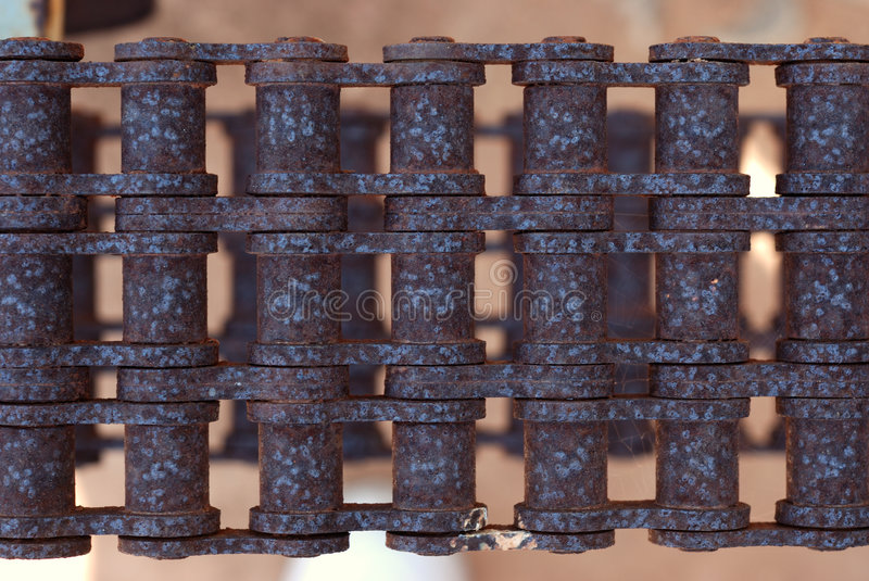 Rusty chain. Part of old rusty chain stock photo
