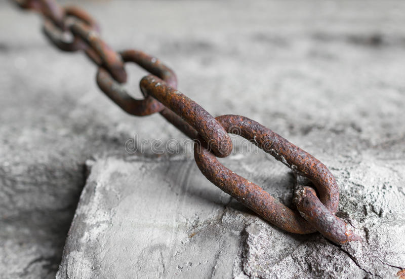 Rusty chain royalty free stock photography