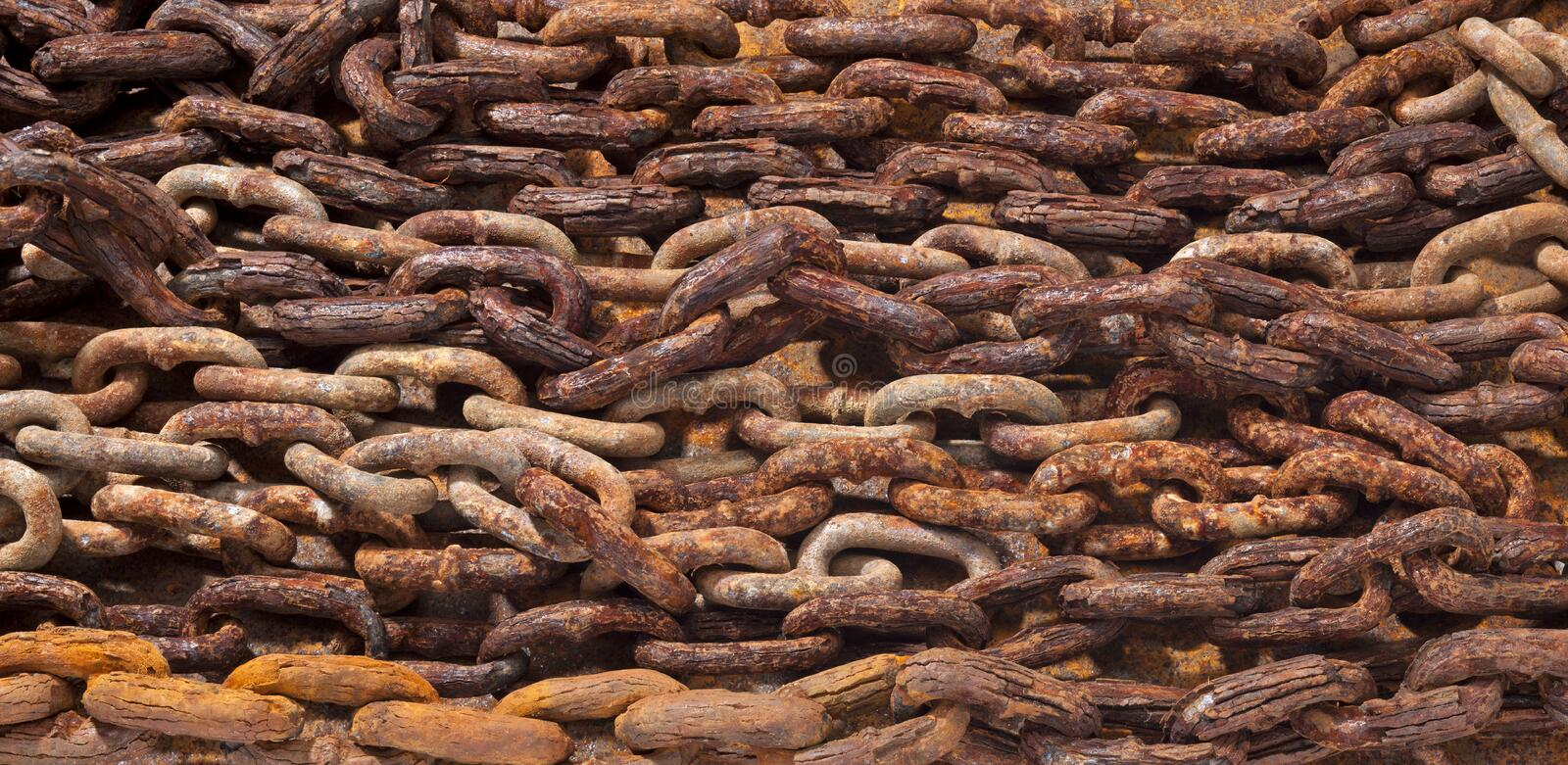 Rusty Chain Background Texture royalty free stock image
