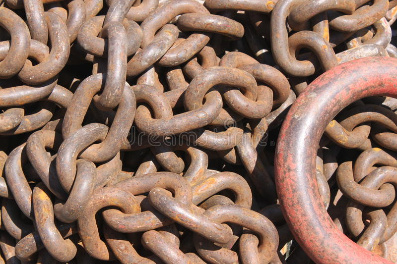 Rusty chain links royalty free stock photos