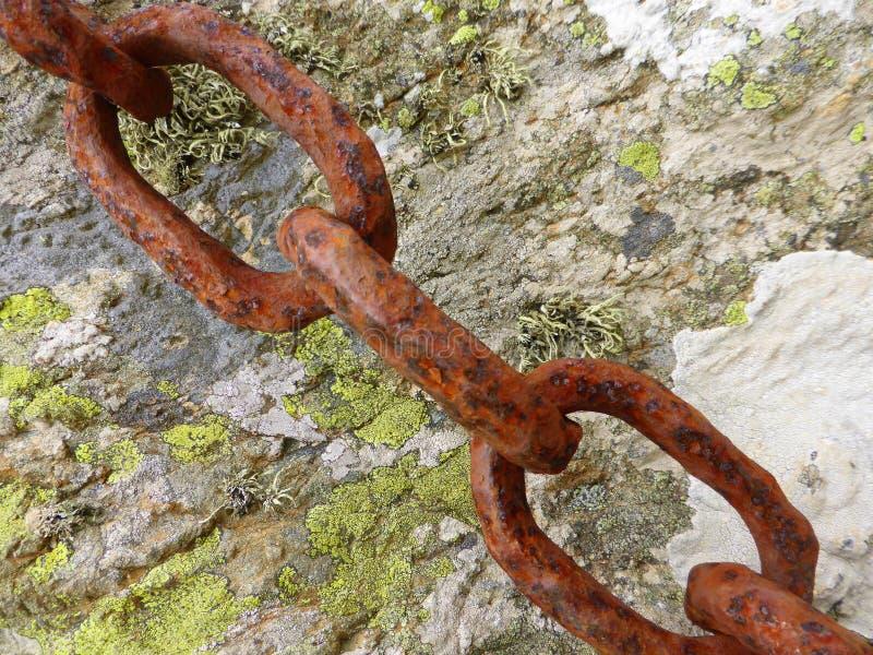 Rusty chain links stock photography