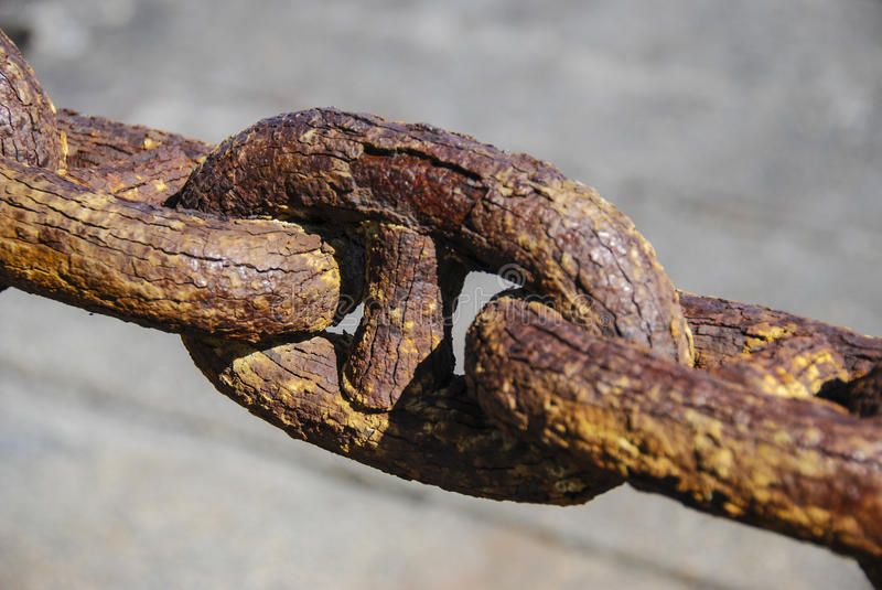 Download Rusty Chain Railing stock photo. Image of rust, strength - 26201732