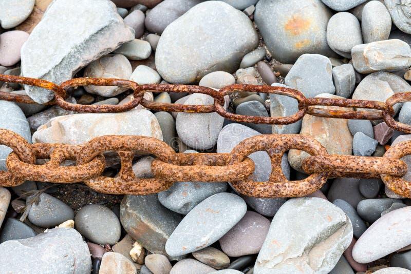 Rusty Chains royaltyfria foton