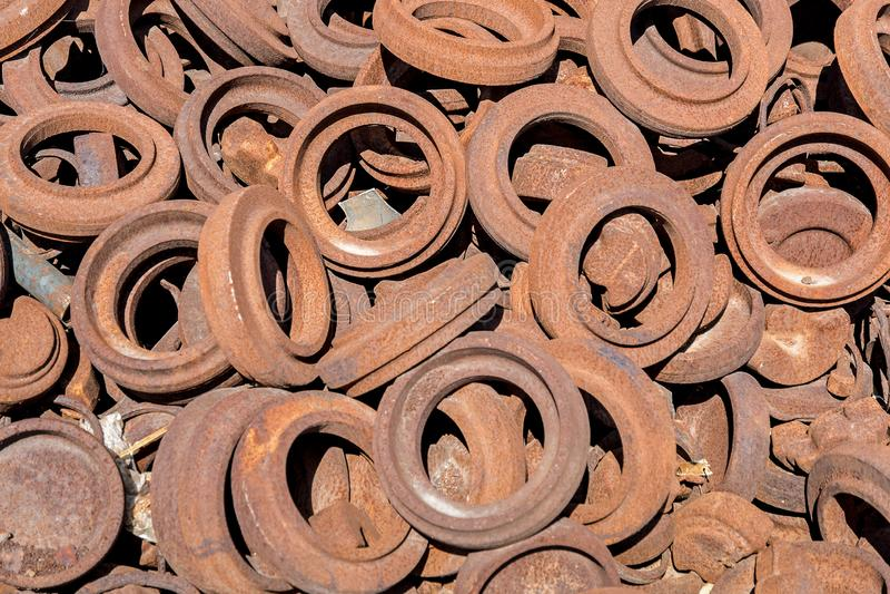 Rusty Circles Hintergrund lizenzfreie stockfotografie