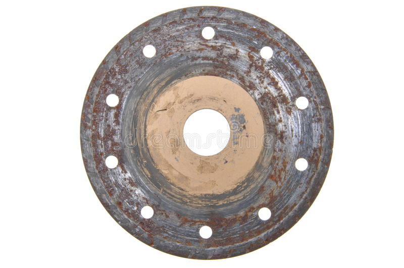 Rusty circular disk. For stone cutting royalty free stock photography