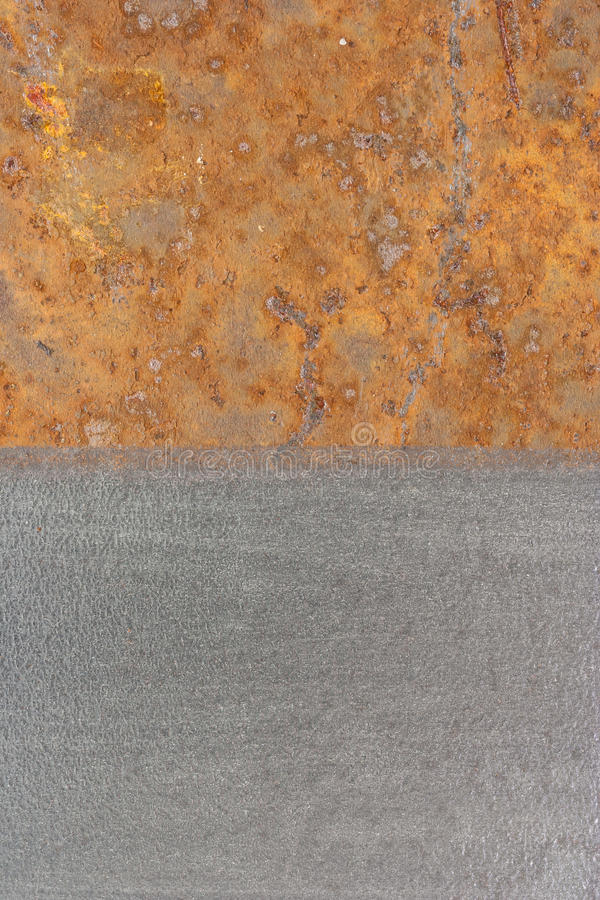 Rusty and clean surface stock photo