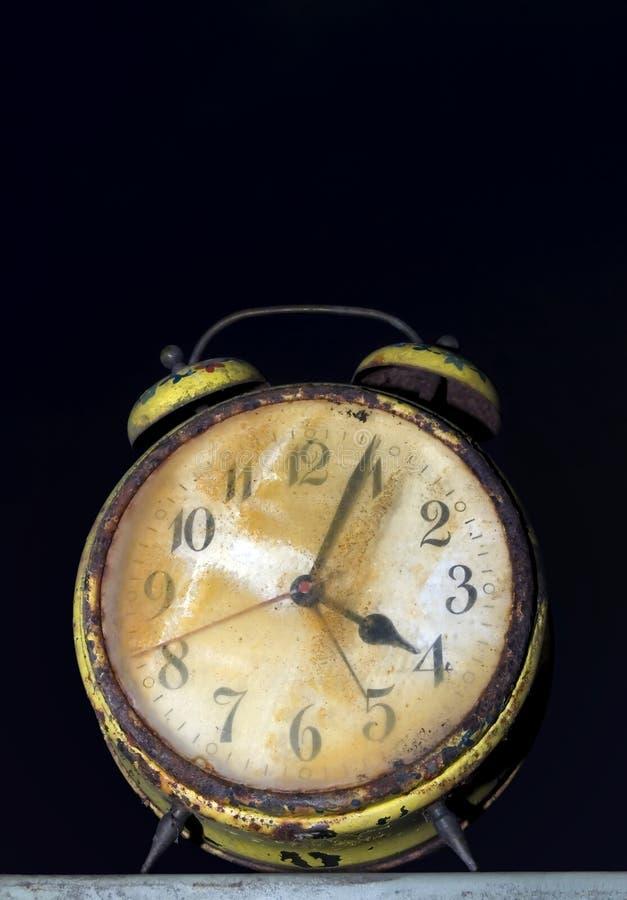 Rusty clock stock image