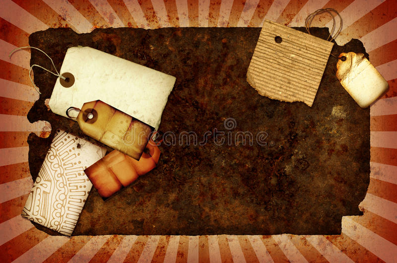Download Rusty Collage stock illustration. Image of splat, collage - 10810042