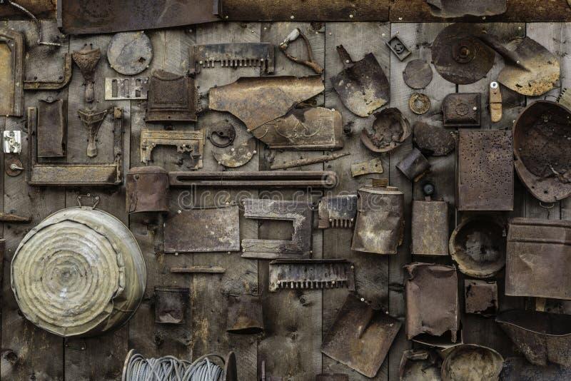 Rusty Collage de vieux outils photos libres de droits