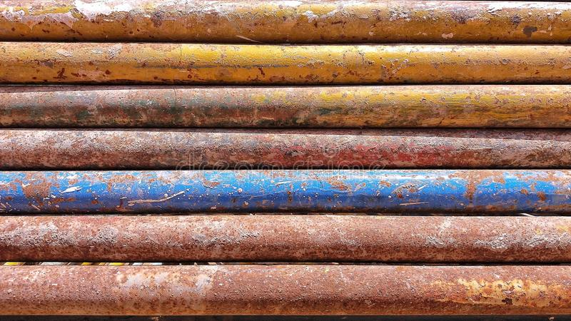 Rusty color iron bar stock photography
