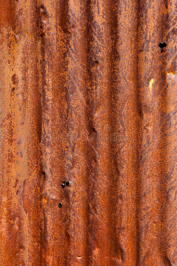 Rusty Corrugated Metal Background Stock Photo