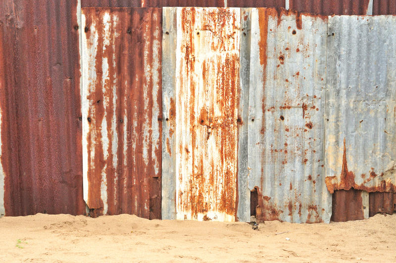 Rusty Corrugated Metal Texture Royalty Free Stock Images
