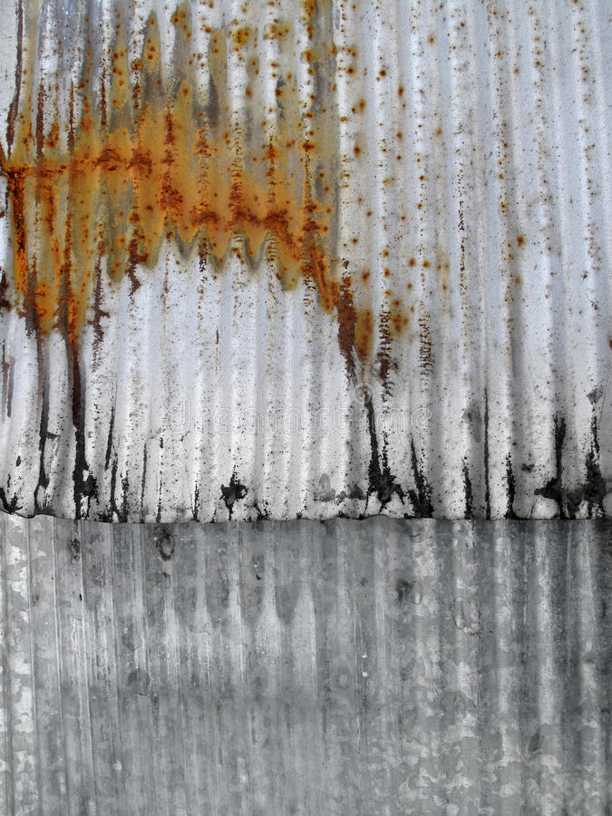 Rusty Corrugated Metal. royalty free stock images