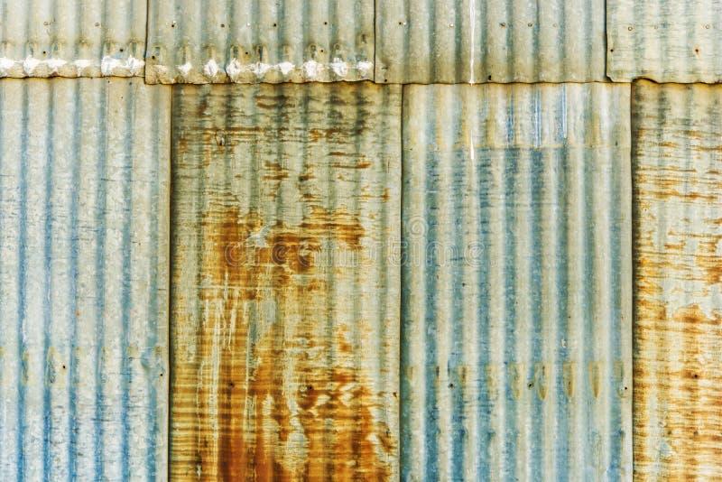 Rusty Corrugated Panels foto de archivo
