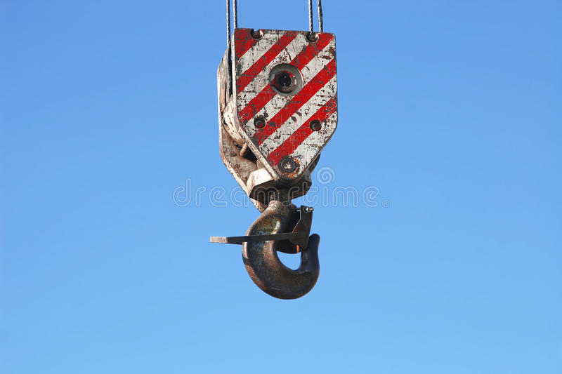 Download Rusty Crane Hook Hanging On Blue Sky Stock Image - Image: 17469989