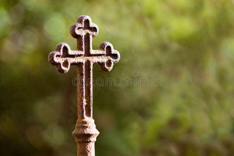 Rusty cross stock images