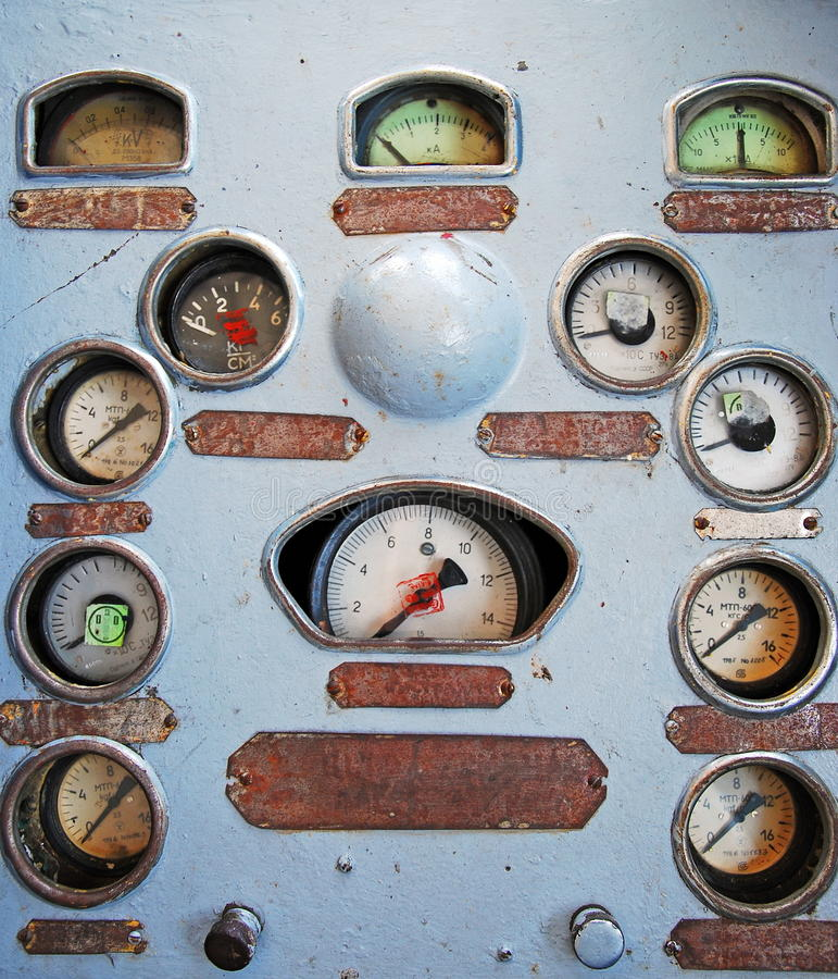 Download Rusty dash board stock photo. Image of arrow, panel, dirty - 18318464