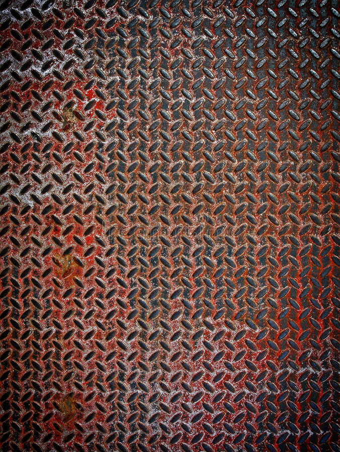 Rusty Diamond Metal Plate Royalty Free Stock Photo Image