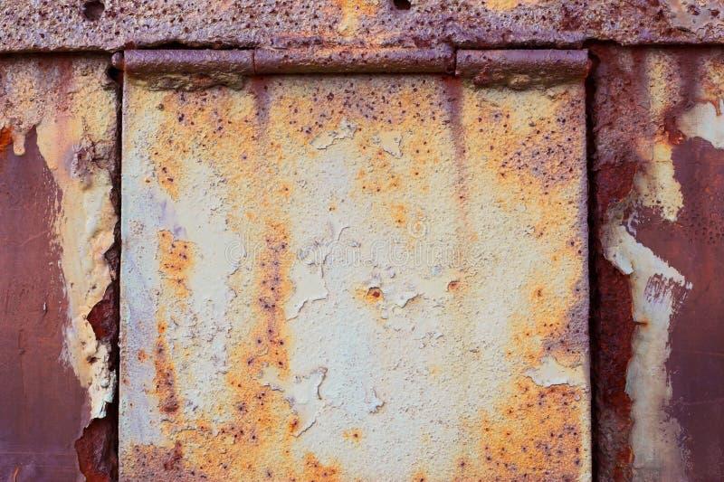 Download Rusty door with hinges stock photo. Image of metal, rusty - 675796