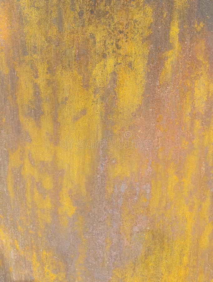 Rusty drum surface. Used for waste in the beach royalty free stock image