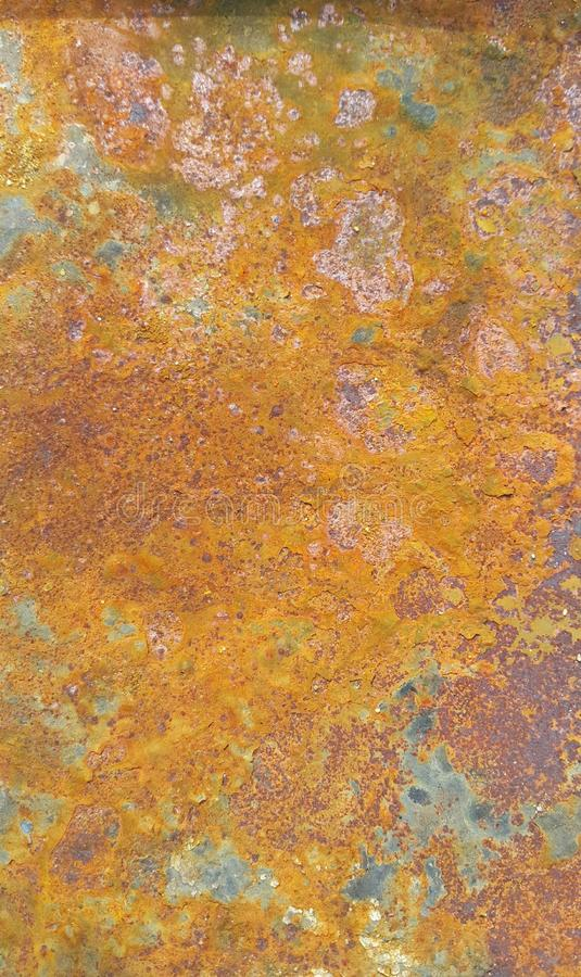 Rusty drum surface. Used for waste in the beach stock image