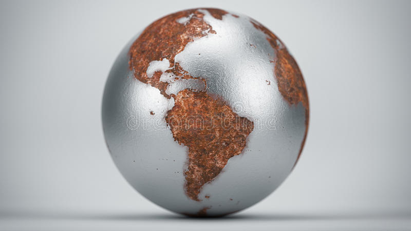 Rusty Earth South America stock afbeelding