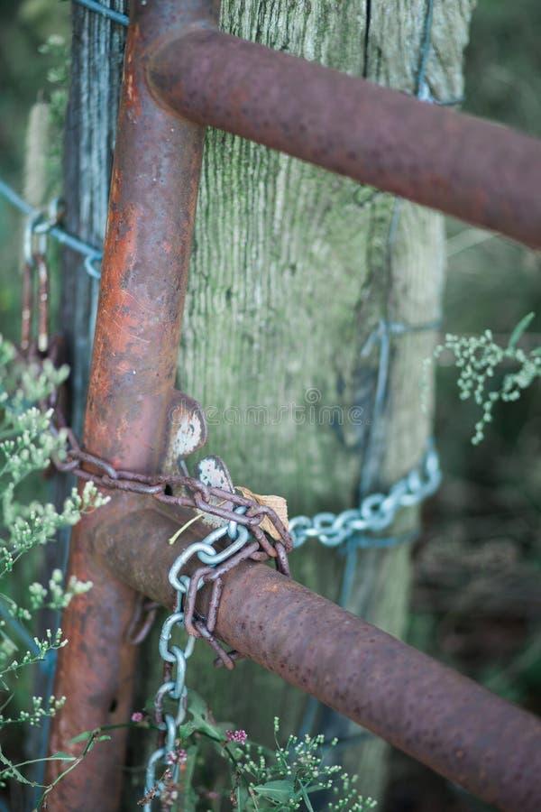 Rusty Farm Gate stock photos