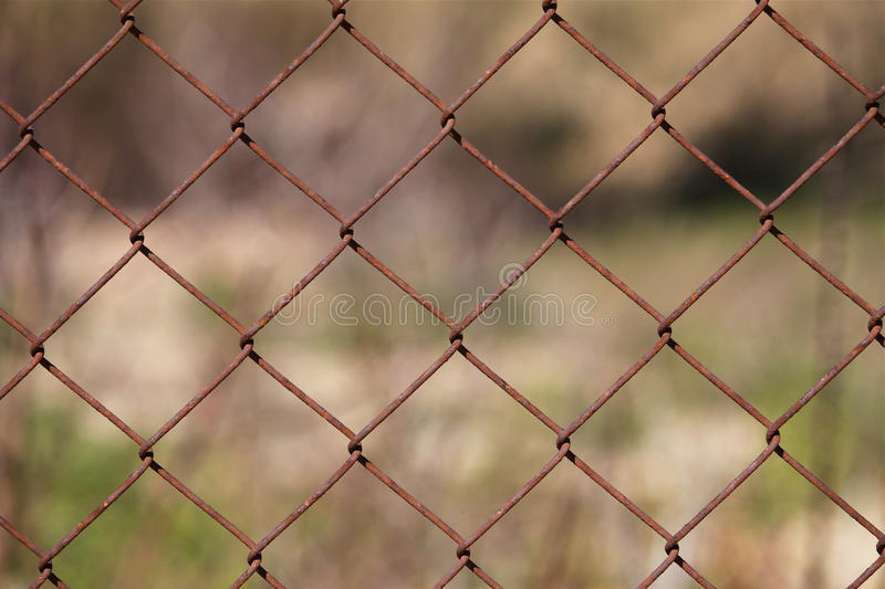Rusty fence stock images