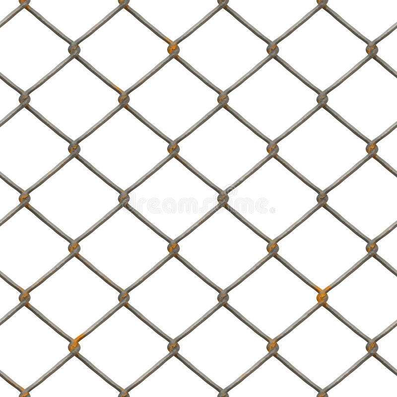 Rusty fence texture (rendered) stock illustration