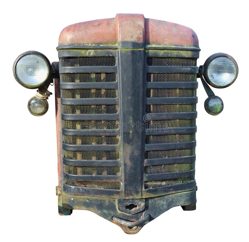 Free Rusty Front Grille Of A Vintage Farmer No Name Tractor Of Production Of The Beginning Of The Twentieth Century Isolated Royalty Free Stock Photography - 168884807