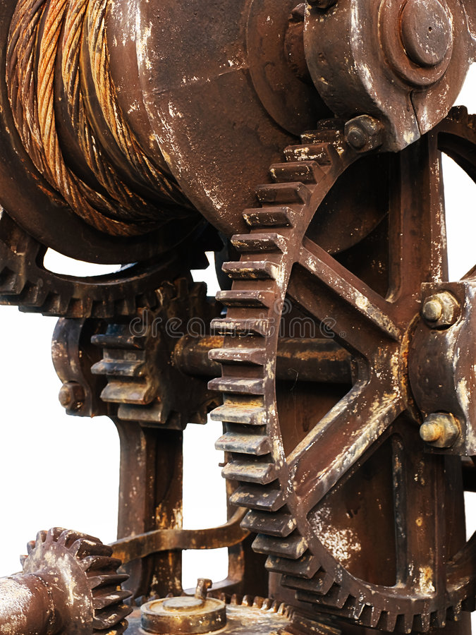 Rusty gear. Cog wheel or gear represent the metaphor of an old industry royalty free stock photography