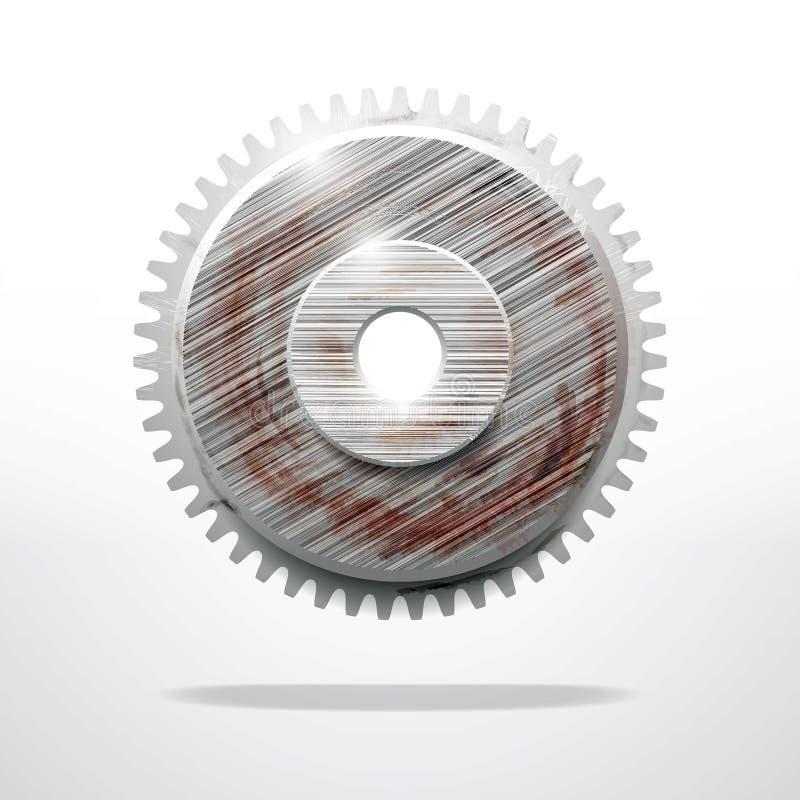 Rusty gear. Technological industrial object stock illustration
