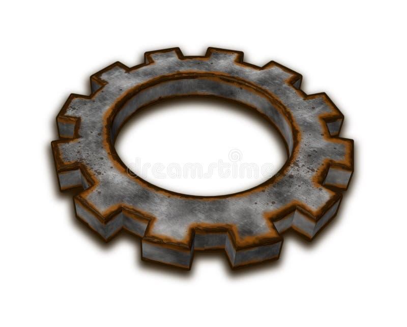 Rusty gear wheel vector illustration