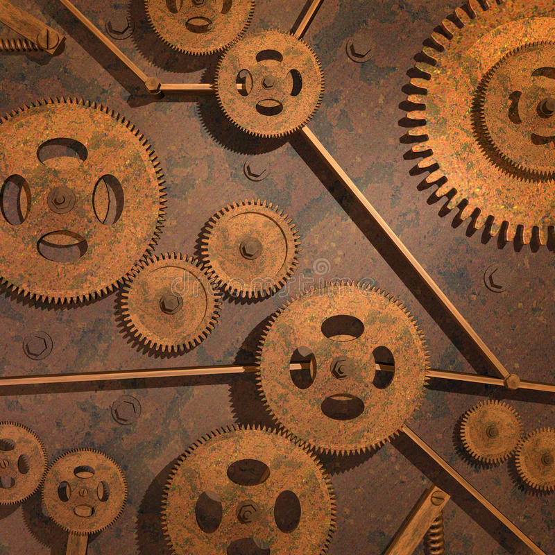 Rusty Gears vector illustration