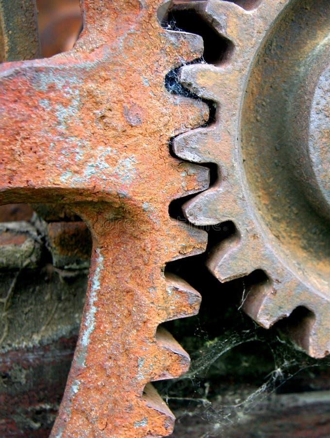 Rusty gears. Cogs in an outdoor museum stock photos