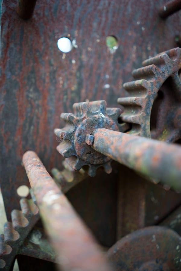 Rusty Gears Portrait Closeup image libre de droits
