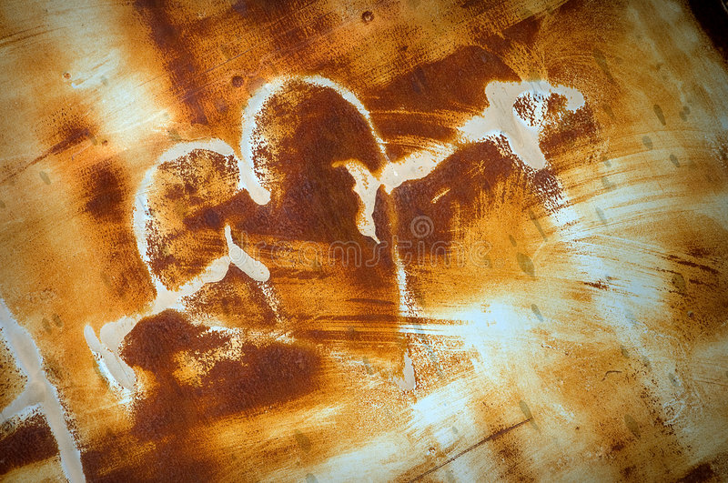 Rusty grunge heart royalty free stock images